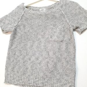 Madewell Wallace marled Sandbar sweater w/pocket